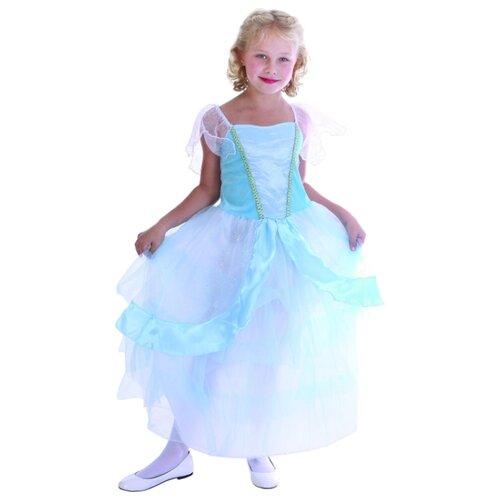 Платье SNOWMEN Принцесса (Е94759), голубой, размер 4-6 лет