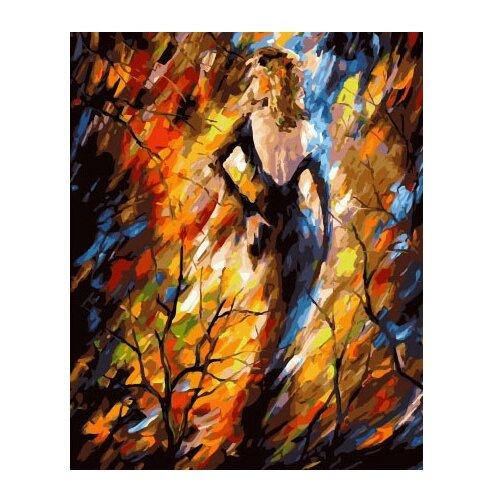 ВанГогВоМне Картина по номерам Дама Осень, 40х50 см (ZX 21968) вангогвомне картина по номерам осенний вальс 40х50 см zx 21314