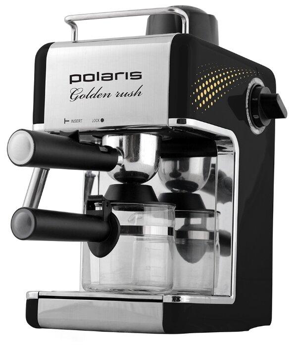 Кофеварка рожковая Polaris PCM 4006A Golden rush