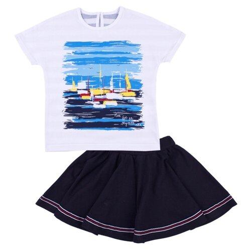 Купить Комплект одежды Апрель размер 128-64, белый/темно-синий, Комплекты и форма