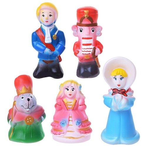 Набор для ванной Кудесники Щелкунчик (СИ-389) голубой/розовый/красный, Игрушки для ванной  - купить со скидкой