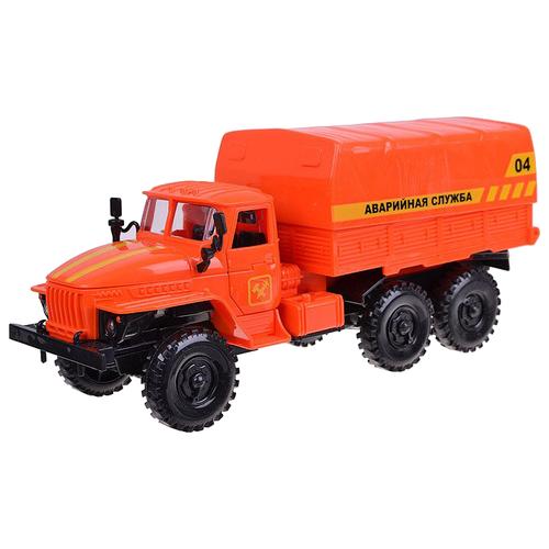 Купить Грузовик Play Smart Автопарк Урал Аварийная служба (9464A) 25 см оранжевый, Машинки и техника