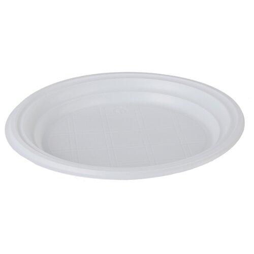 Тарелки одноразовые десертные OfficeClean, набор 100шт., белые, 17см