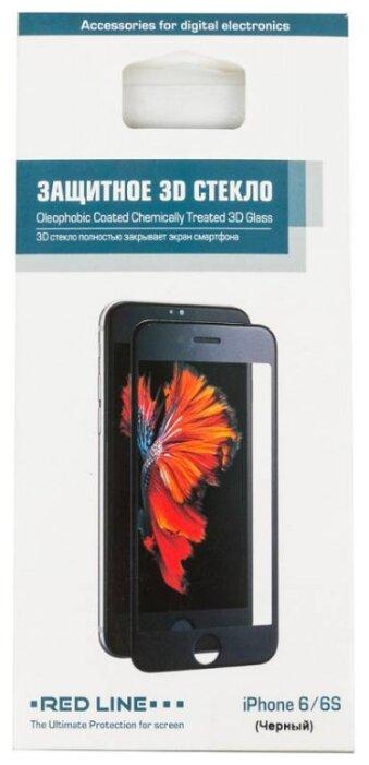 Защитное стекло Red Line 3D для Apple iPhone 6/6S черный фото 1
