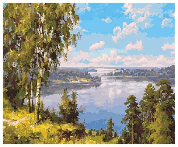 Купить Картины по Номерам на Холсте 40 х 50 см Природа - На берегу реки Холст на Подрамнике по низкой цене с доставкой из Яндекс.Маркета (бывший Беру)