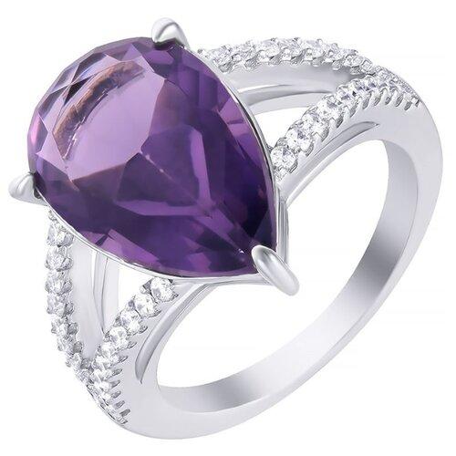 JV Кольцо с стеклом и фианитами из серебра SY-356155-R-KO-US-002-WG, размер 16 jv кольцо с стеклом и фианитами из серебра sy 356989 r ko 002 wg размер 16 5