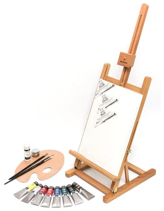 Мольберт Малевичъ МЛ-57 в стартовом наборе для живописи маслом (830210)
