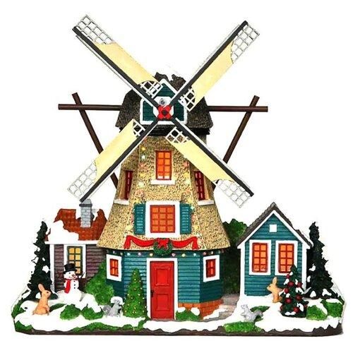 Фигурка Lemax Ветряная мельница с флигелем 29 х 30 х 8 см голубой/бежевый/зеленый