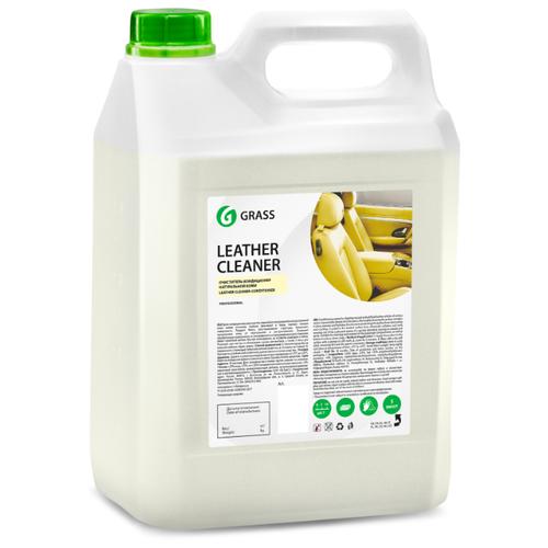 GraSS Очиститель-кондиционер кожи салона автомобиля Leather Cleaner (131101), 5 л lavr очиститель кожи leather cleaner для салона автомобиля ln1470 l 0 185 л бесцветный