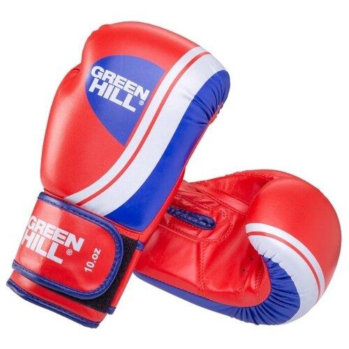 Боксерские перчатки Green hill Knockout (BGK-2266) красный 12 oz green hill перчатки боксерские green hill abid размер 12
