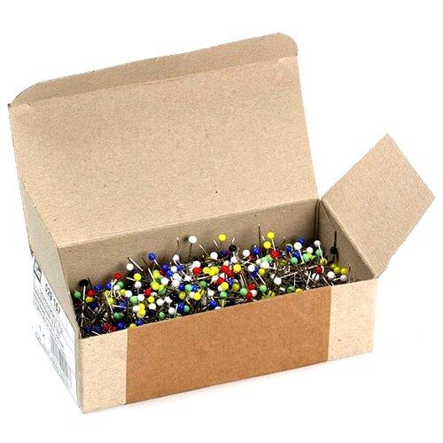 Купить Набор булавок Prym 029157 со стеклянной головкой, 0, 60 x 30мм, серебристый/многоцветный, 100 г, Иглы
