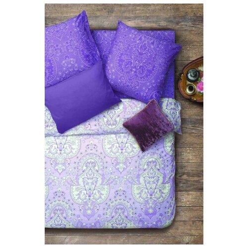 Постельное белье семейное Sova & Javoronok Инжир 50х70 см, бязь фиолетовый/розовыйКомплекты<br>