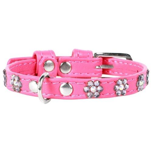 Ошейник COLLAR Glamour Цветочек 3253 19-25 см розовый