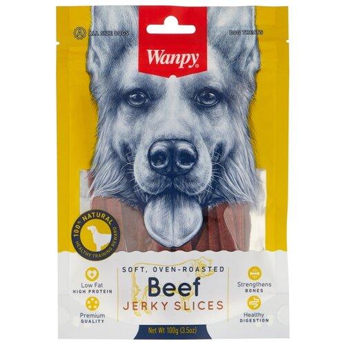 Лакомство для собак Wanpy Соломка из вяленой говядины, 100 г wanpy 200