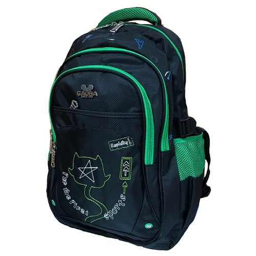 Рюкзак Gaoba First Sports 6899 черный/зеленый
