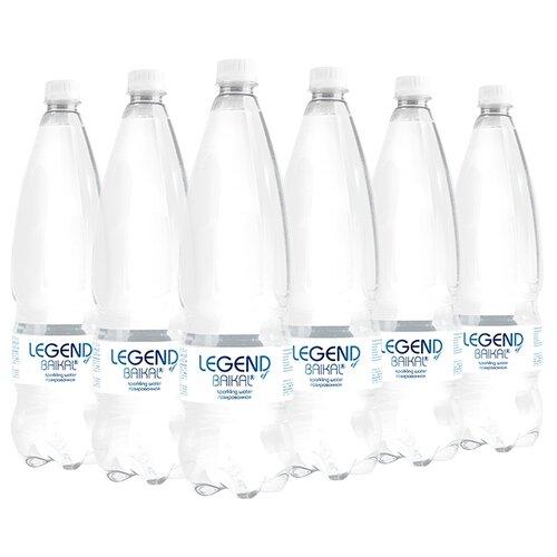 Вода питьевая Legend of Baikal глубинная газированная, пластик, 6 шт. по 1.5 л