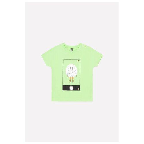 Купить Футболка crockid размер 68, зеленая мята, Футболки и рубашки