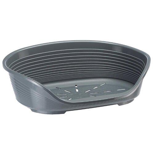 цена на Лежак для собак и кошек Ferplast Siesta DeLuxe 6 70.5х52х23.5 см темно-серый