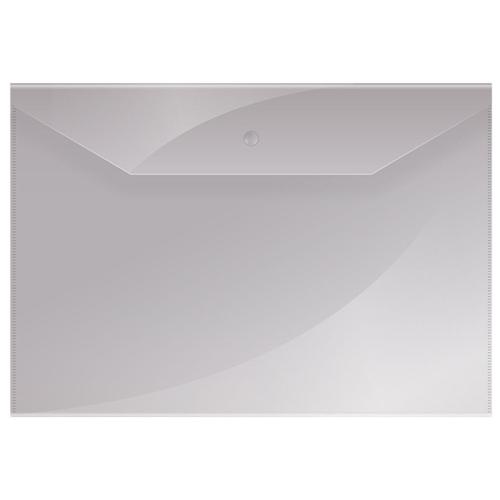 Купить OfficeSpace Папка-конверт на кнопке А4, пластик 150 мкм, 10 штук бесцветный, Файлы и папки