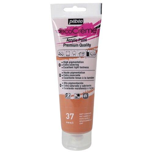 Купить Краска акриловая кремовая матовая PEBEO decoCreme , 120 мл, цвет: 089037 корица, Краски