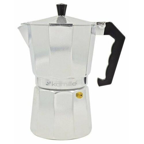 Гейзерная кофеварка Kamille 2502 (450 мл), серебристый