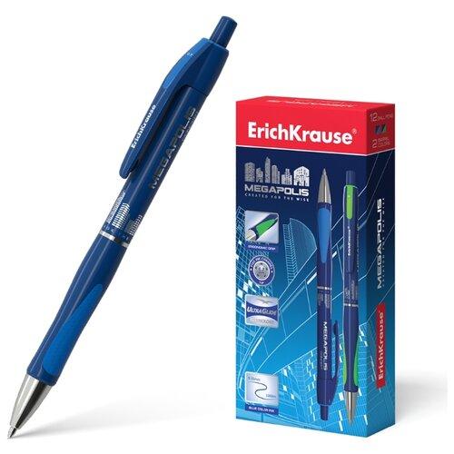 Купить ErichKrause набор шариковых ручек Megapolis Concept 12 шт., 0.7 мм (EK31/EK32), синий цвет чернил, Ручки