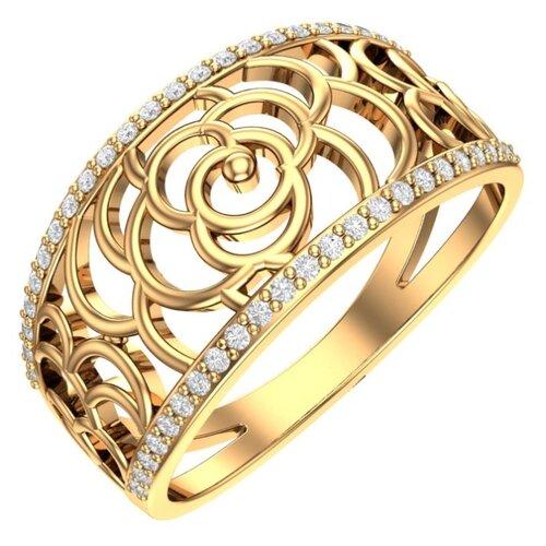 POKROVSKY Золотое кольцо «Аристократ» 1101000-00770, размер 19.5