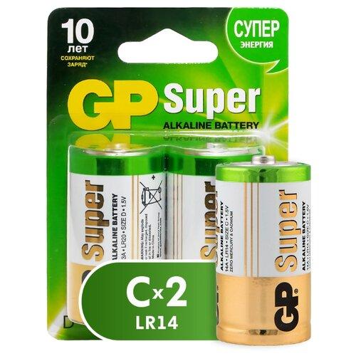 Фото - Батарейка GP Super Alkaline C, 2 шт. gp pb570gs270 2cr4