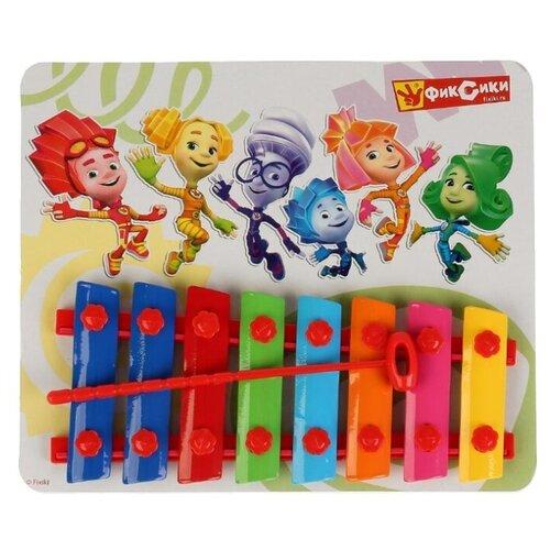 цена на Играем вместе ксилофон Фиксики B1266911-R2 красный/синий/зеленый/голубой/розовый/желтый