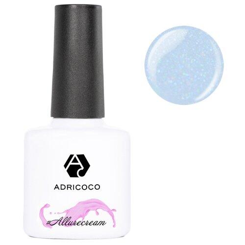 Гель-лак для ногтей ADRICOCO #Allurecream, 8 мл, 10 камуфлирующий голубой с шиммером