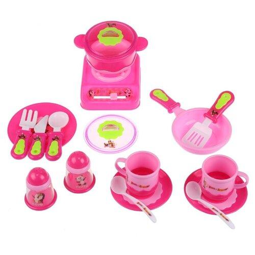 Игровой набор Играем вместе Маша и Медведь 1209U390-R розовый/зеленый по цене 2 032