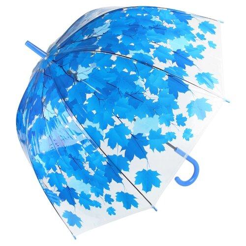 Зонт Amico прозрачный/голубой