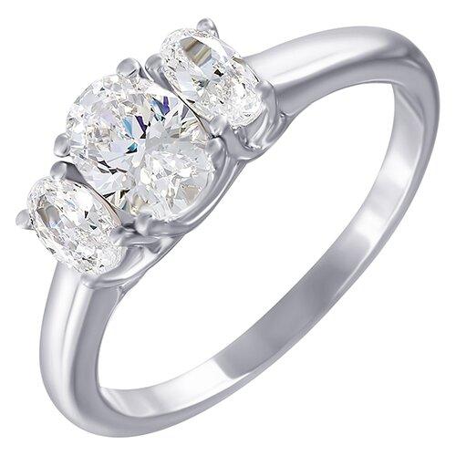 ELEMENT47 Кольцо из серебра 925 пробы с кубическим цирконием SL31040A1_001_WG, размер 17.25