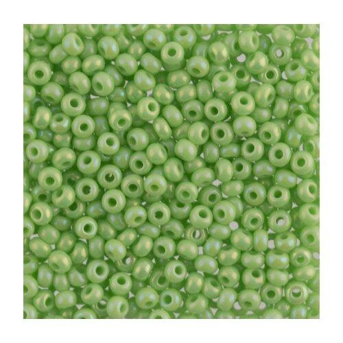 Купить Бисер Preciosa , 10/0, 500 грамм, цвет: 54410 светло-зеленый, Фурнитура для украшений