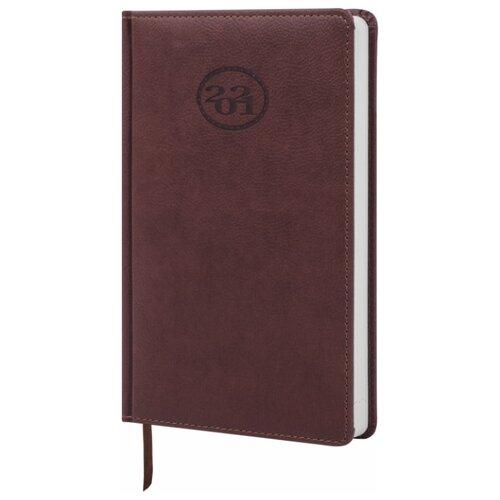 Купить Ежедневник BRAUBERG Favorite датированный на 2021 год, искусственная кожа, А5, 168 листов, коричневый, Ежедневники, записные книжки