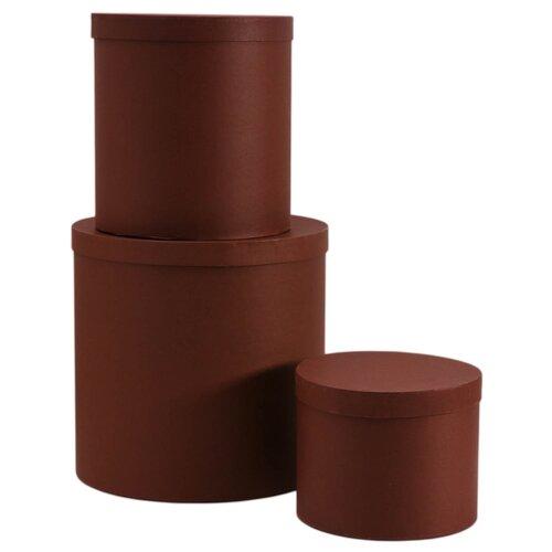 Набор подарочных коробок Мишель Фокс Штукатурка №12, 3 шт. коричневый