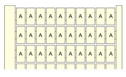 Маркировка для клеммной колодки/ клеммного блока ABB 1SNA234150R0400