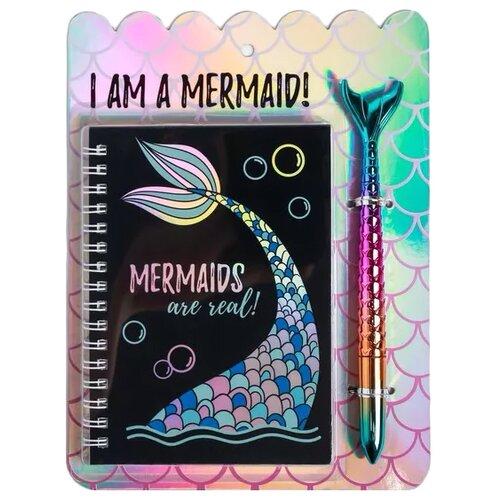 Купить Ежедневник ArtFox I am a mermaid! 4564189, А6, 40 листов, черный, Ежедневники, записные книжки