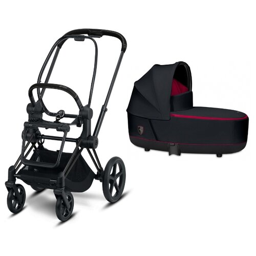 Универсальная коляска Cybex Priam III Ferrari (2 в 1) victory black/matte black, цвет шасси: черный
