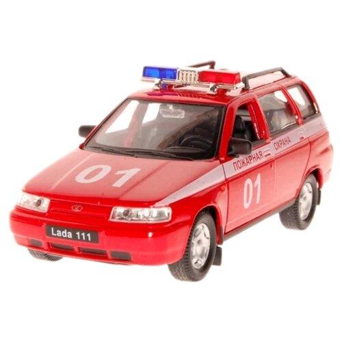 Легковой автомобиль Autogrand Lada 111 пожарная охрана (2664) 1:36 11.5 см красный/белый