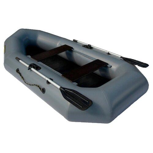 Надувная лодка Leader Компакт 255 серый лодка надувная sibriver агул 255 нд