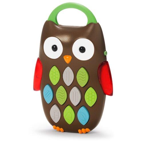 Развивающая игрушка SKIP HOP Музыкальный телефон Сова коричневый развивающая игрушка 52431 коричневый