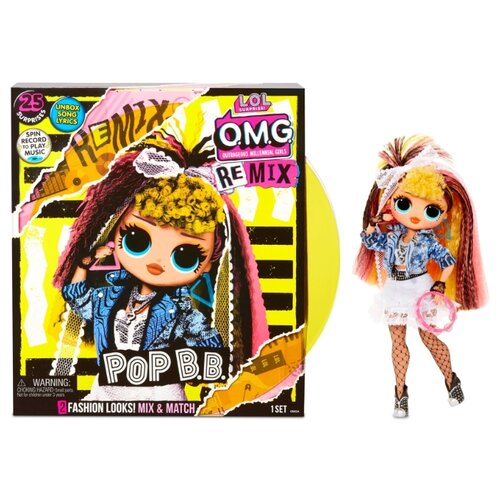 Кукла L.O.L. Surprise! O.M.G. Remix Pop B.B. Fashion Doll, 567257 игрушка pop pop hair surprise в ассорт 561873
