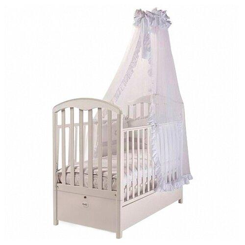 Купить Кроватка Feretti Elegance FMS (классическая), продольный маятник белый, Кроватки