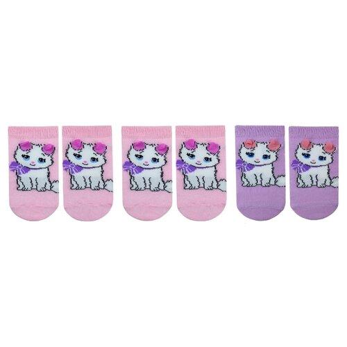 Купить Носки НАШЕ комплект из 3 пар, размер 14 (12-14), розовая дымка/фуксия