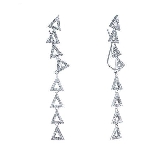 Фото - JV Серебряные серьги с кубическим цирконием DM2367E-SR-001-WG jv серебряные серьги с кубическим цирконием pv20969clrh00 sr 001 wg