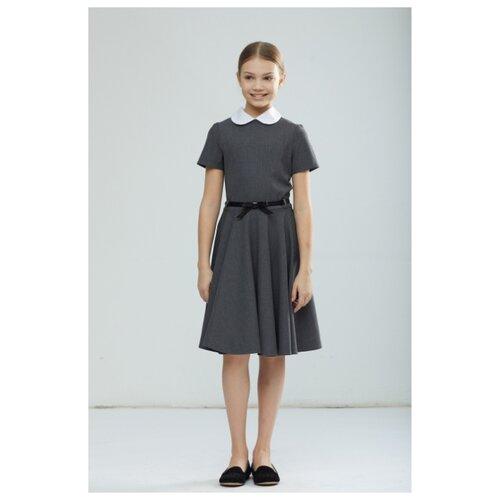 Платье Смена размер 122/60, серый
