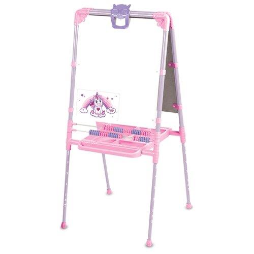 Мольберт детский Nika двухсторонний с единорогом (М2Л-М) розовый