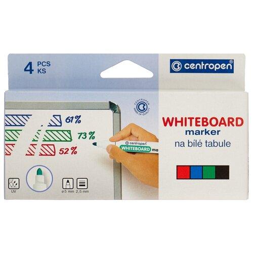 Купить Centropen Набор маркеров для доски (8559/4PVC), 4 шт., Маркеры