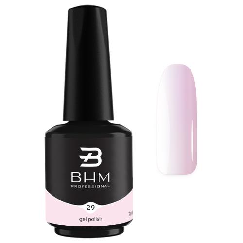 Гель-лак для ногтей BHM Professional Gel Polish, 7 мл, №29 Pink mist гель лак для ногтей bhm professional gel polish 7 мл 035 fashion violet